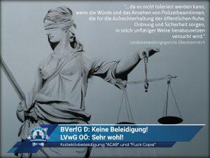"""Gerichtsurteil: Kollektivbeleidigung """"ACAB"""" und """"Fuck Cops"""""""