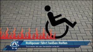 Schneller als der Hersteller erlaubt - Rolliposer fährt heißen Reifen