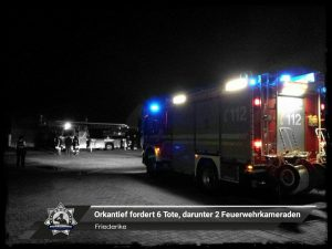 Friederike: Orkantief fordert sechs Tote, darunter zwei Feuerwehrkameraden