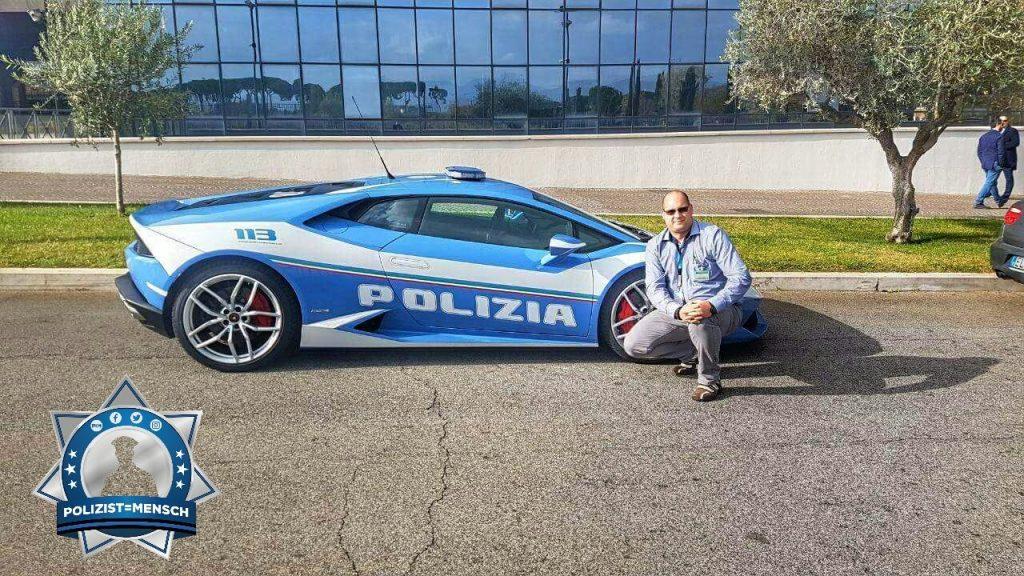 """""""Grüsse an das gesamte Polizist=Mensch Team und alle Kollegen hier aus dem Einsatz in Italien."""""""
