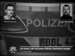 #InMemoriam: Vor einem Jahr von einem Mörder überfahren worden