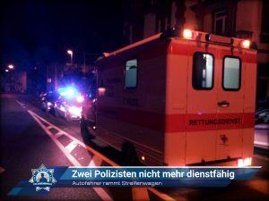 Autofahrer rammt Streifenwagen: Zwei Polizisten nicht mehr dienstfähig