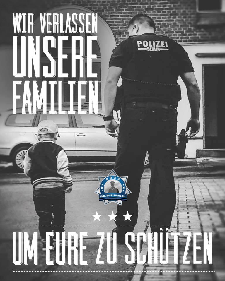 Wir verlassen unsere Familien um eure zu schützen