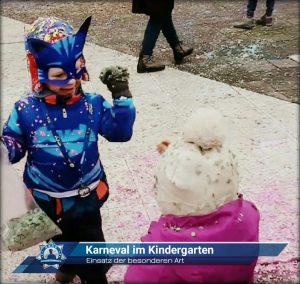 Einsatz der besonderen Art: Karneval im Kindergarten