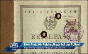 Betroffene Polizisten klagen vor Gericht: Kein Platz für Reichsbürger bei der Polizei
