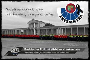 Ausschreitungen bei Fußballspiel in Bilbao: Baskischer Polizist stirbt im Krankenhaus