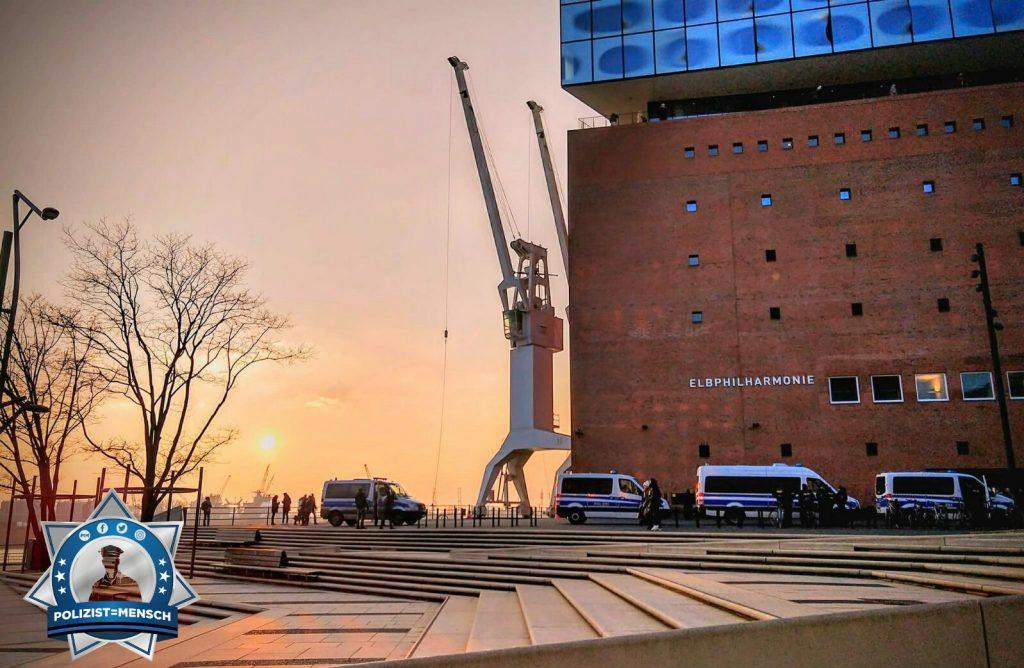 Elbphilharmonie im Schutz der Polizei