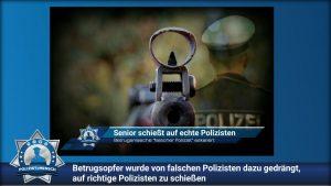 Betrugsopfer wurde von falschen Polizisten dazu gedrängt, auf richtige Polizisten zu schießen