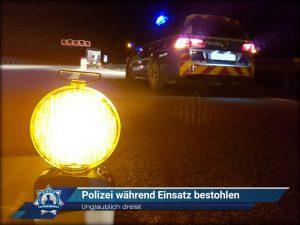 Unglaublich dreist: Polizei während Einsatz bestohlen