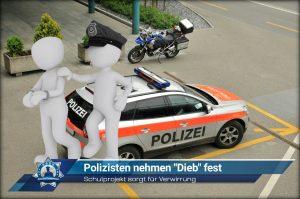"""Schulprojekt sorgt für Verwirrung: Polizisten nehmen """"Dieb"""" fest"""