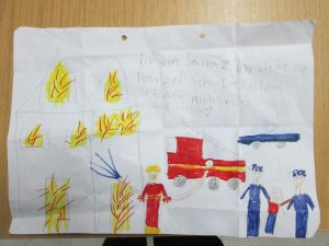 Bild: PolizeiiKleine Geste, große Wirkung: Kinderzeichnung rührt Polizistennspektion Rotenburg