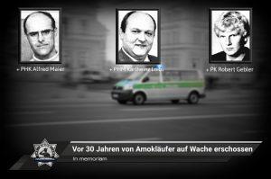 In memoriam: Vor 30 Jahren von Amokläufer auf Wache erschossen