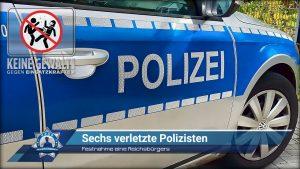 Festnahme eines Reichsbürgers: Sechs verletzte Polizisten