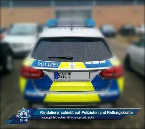 In psychiatrischer Klinik untergebracht: Randalierer schießt auf Polizisten und Rettungskräfte