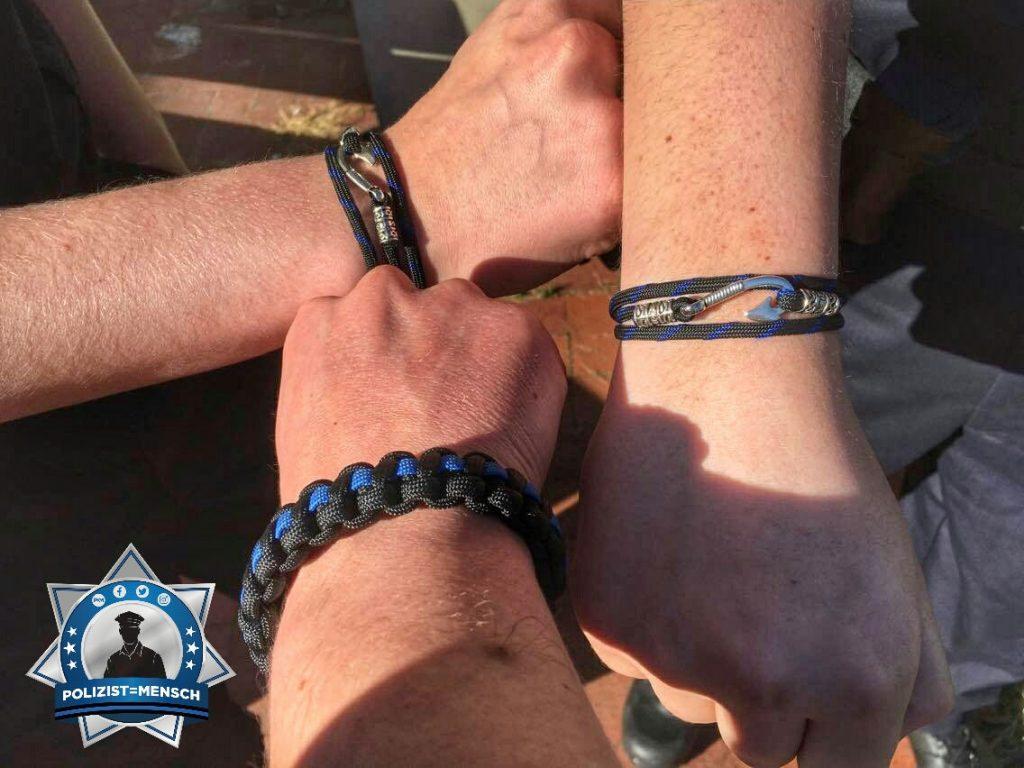 """""""Viele Grüße von Dennis, Lars und Micha aus der Polizeiakademie Niedersachsen; unsere Armbänder sind auch da!!!"""""""