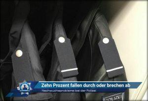 Nachwuchsprobleme bei der Polizei: Zehn Prozent fallen durch oder brechen ab