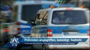 Fremdenfeindliche Übergriffe führen zu Großeinsatz: Polizisten angegriffen, beleidigt, bedroht
