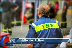 Ehrenamt Technisches Hilfswerk: Helfer der Polizei