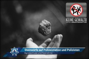 Signalschuss und Festnahme: Steinwürfe auf Polizeistation und Polizisten