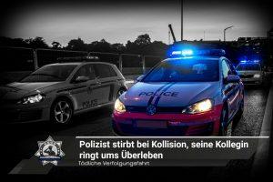 Tödliche Verfolgungsfahrt: Polizist stirbt bei Kollision, seine Kollegin kämpft ums Überleben