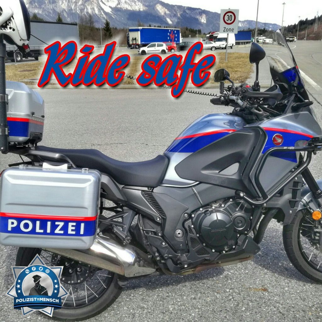 """#Ridesafe! """"Die Motorradsaison hat wieder begonnen. LG von der Landesverkehrsabteilung Kärnten, Kai"""""""
