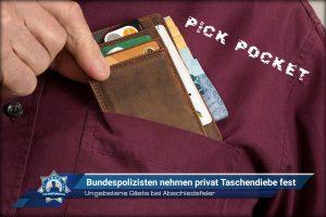 Ungebetene Gäste bei Abschiedsfeier: Bundespolizisten nehmen privat Taschendiebe fest
