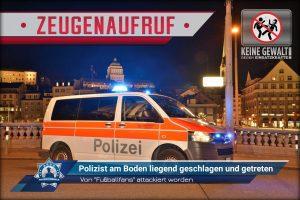 """+Zeugenaufruf+ Von """"Fußballfans"""" attackiert worden: Polizist am Boden liegend geschlagen und getreten"""