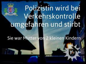 Polizistin in Luxemburg wird bei einer Verkehrskontrolle umgefahren und stirbt