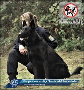 Nicht mehr dienstfähig: Kampfsportler schlägt Diensthundeführerin nieder