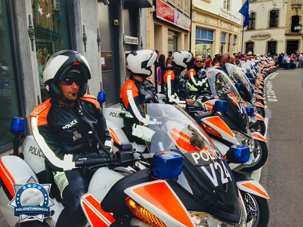 Diesen Bildgruß bekamen wir von der Polizeimotorradstaffel in Luxemburg