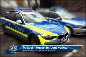 Betrunkener Autofahrer will flüchten: Polizist mitgeschleift und verletzt