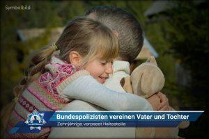 Zehnjährige verpasst Haltestelle: Bundespolizisten vereinen Vater und Tochter