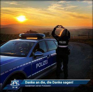 Gedanken einer Polizistin: Danke an die, die danke sagen!