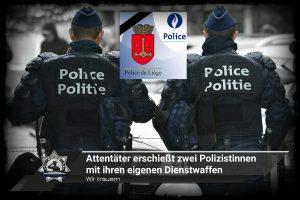 Wir trauern: Ein Attentäter erschießt zwei Polizistinnen mit ihren eigenen Dienstwaffen