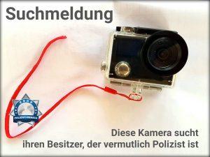 Suchmeldung: Diese Kamera sucht ihren Besitzer, der vermutlich Polizist ist