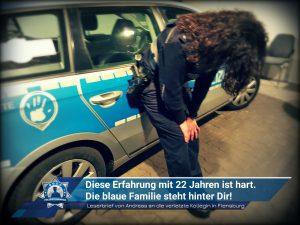 Leserbrief von Andreas an die verletzte Kollegin von Flensburg: Diese Erfahrung mit 22 Jahren ist hart