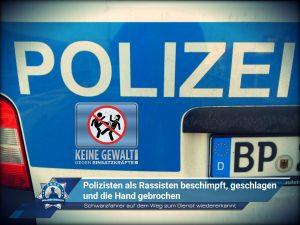 Schwarzfahrer auf dem Weg zum Dienst wiedererkannt: Polizisten als Rassisten beschimpft, geschlagen und die Hand gebrochen