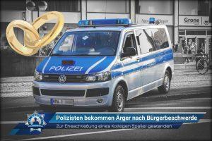 Zur Eheschließung eines Kollegen Spalier gestanden: Polizisten bekommen Ärger nach Bürgerbeschwerde