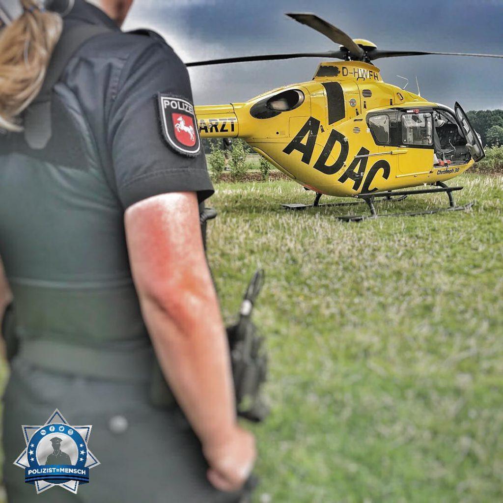 Luftrettung und Polizei arbeiten Hand in Hand