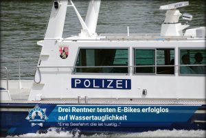 """""""Eine Seefahrt die ist lustig..."""": Drei Rentner testen E-Bikes erfolglos auf Wassertauglichkeit"""