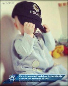 Gedanken einer Polizistenfrau: Wie es ist, wenn der Papa bei der Hundertschaft ist