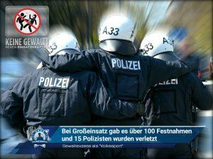 """Gewaltexzess als """"Volkssport"""": Bei Großeinsatz gab es über 100 Festnahmen und 15 Polizisten wurden verletzt"""