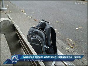Ehrliche Finderinnen: Mädchen bringen wertvollen Rucksack zur Polizei