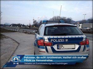 Debatte um Zurückweisung von Flüchtlingen: Polizisten, die nicht zurückweisen, machen sich strafbar
