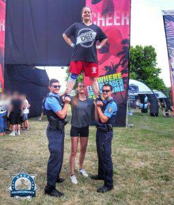 Kollegen untereinander auf dem Summer Stuntfest