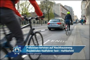 Fitness gewinnt: Polizisten nehmen auf Nachhauseweg flüchtenden Radfahrer fest