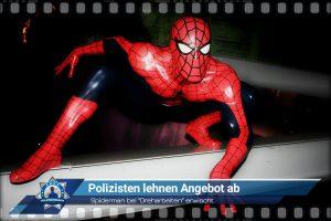 """Spiderman bei """"Dreharbeiten"""" erwischt: Polizisten lehnen Angebot ab"""