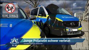 Hinterhältige Attacke: Junge Polizistin schwer verletzt