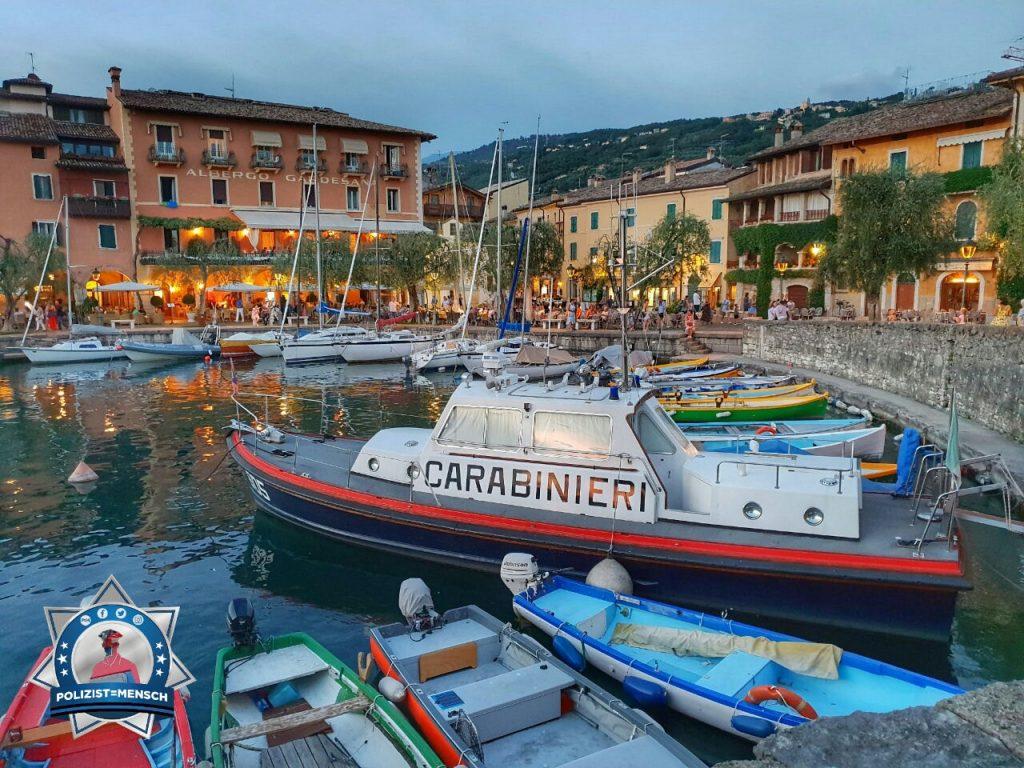 """""""Schöne Grüße vom Gardasee (Hafen in Torri del Benaco). Die WaPo ist auch vor Ort  Alexander"""""""