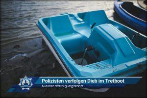 Kuriose Verfolgungsfahrt: Polizisten verfolgen Dieb im Tretboot